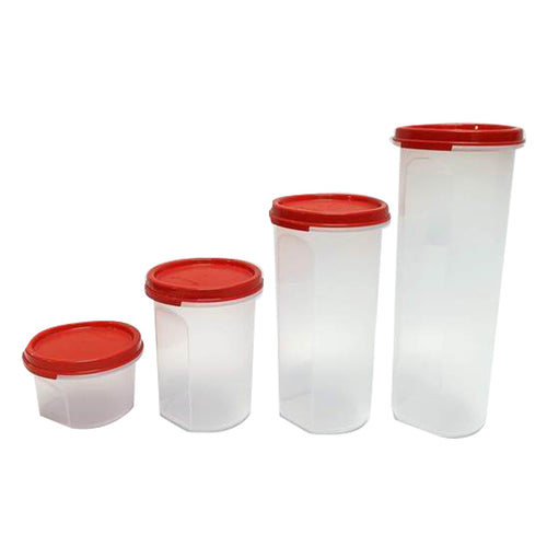 Tupperware Modular Mates Red Round Set-Tupperware 4 Sale