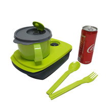 Load image into Gallery viewer, Tupperware MySmart Lunch Set (Lunch Box + Soup Mug + Cutlery Set)