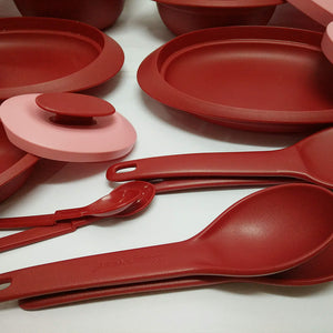 Tupperware Petit Royal Red Serving Set-Tupperware 4 Sale