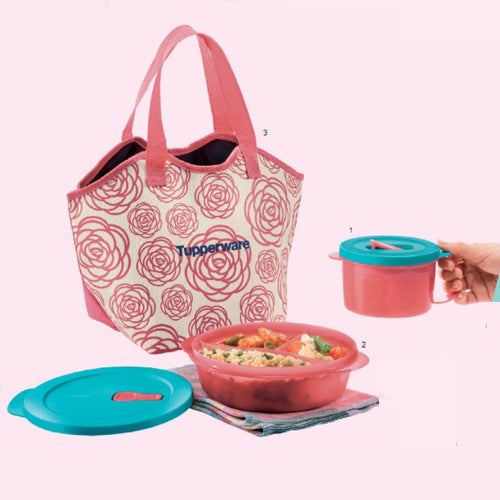 Tupperware Roza Lunch Set with Freebies-Tupperware 4 Sale