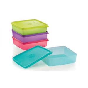 Tupperware Slim Eco Bottle with Square Away Set with Freebies