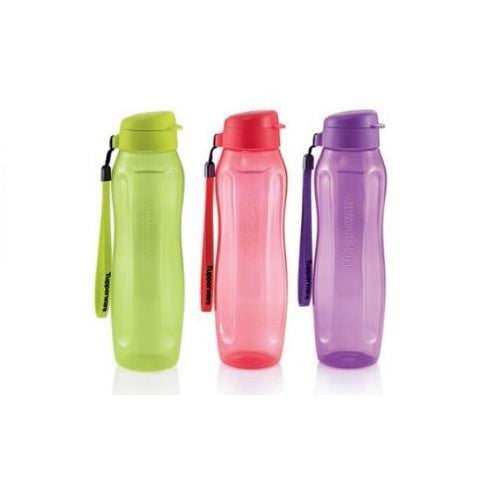 Tupperware Slim Eco Drinking Bottles with Square Away Set with Freebies