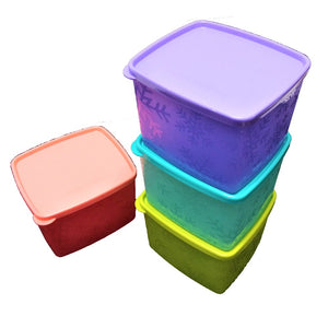 Tupperware Snowflake Double + Large Square Round Chiller Set