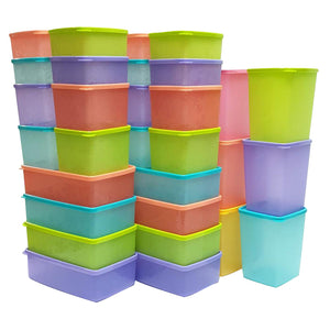 Tupperware Snowflake Double + Cool Square Round Set