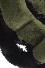 Load image into Gallery viewer, Black and Green Faux Fur Stole Scarf