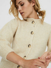 Load image into Gallery viewer, Diana High Neck 3/4 Sleeve Cardigan - Beige