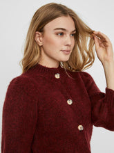 Load image into Gallery viewer, Diana Burgundy High Neck 3/4 Sleeve Cardigan