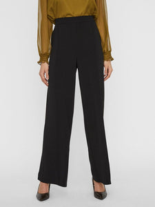 Blair High Elasticated Waisted Trousers - Black