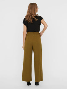 Blair High Elasticated Waisted Trousers - Green