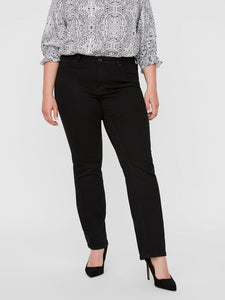Curve - Black Straight Leg Jeans Trousers