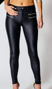 Black Coated Trousers