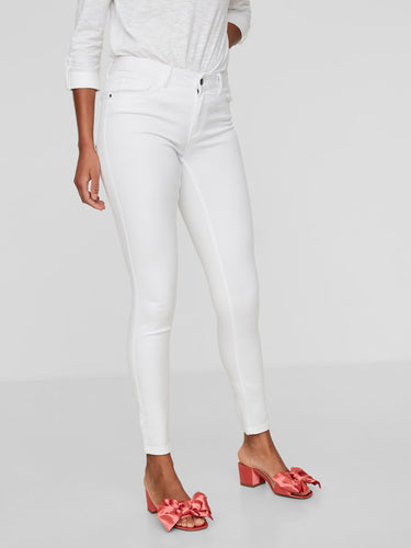 White Skinny Fit Denim Jeans