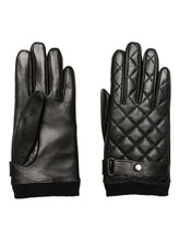 Load image into Gallery viewer, Black Leather Quilted Gloves