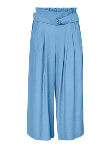 Orla - High Waist Culotte Trousers Blue