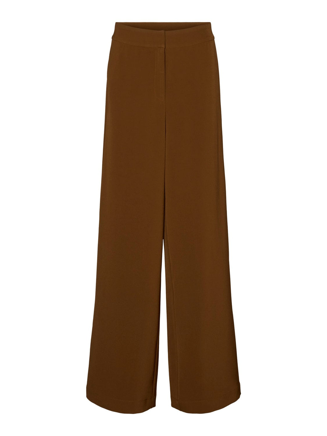 Cameron High Waisted Wide Leg Trousers - Brown