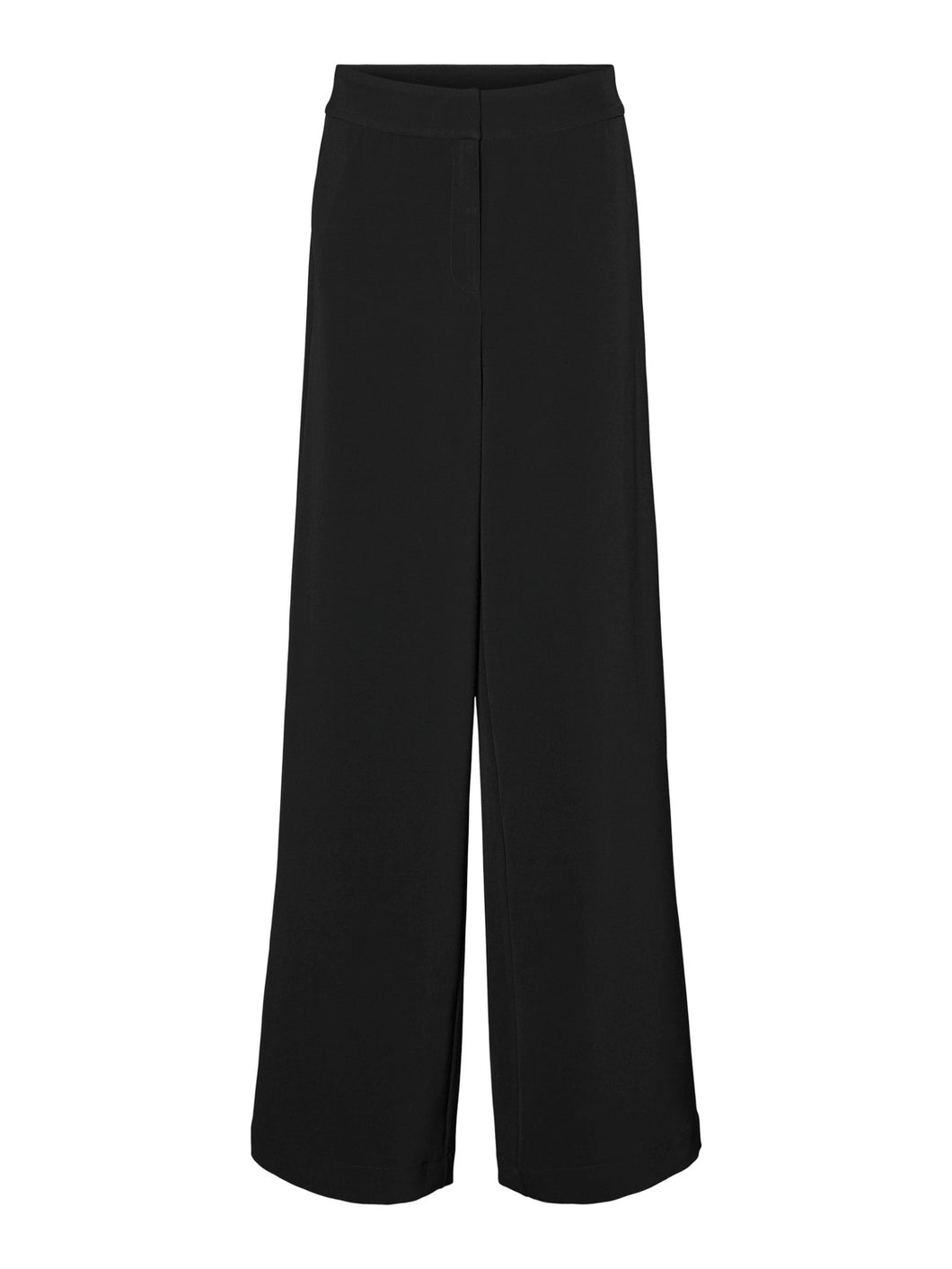 Cameron High Waisted Wide Leg Trousers - Black