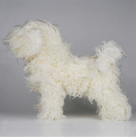 Opawz Bichon Dog Wig White