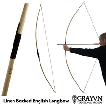 Load image into Gallery viewer, Linen Backed English Longbow