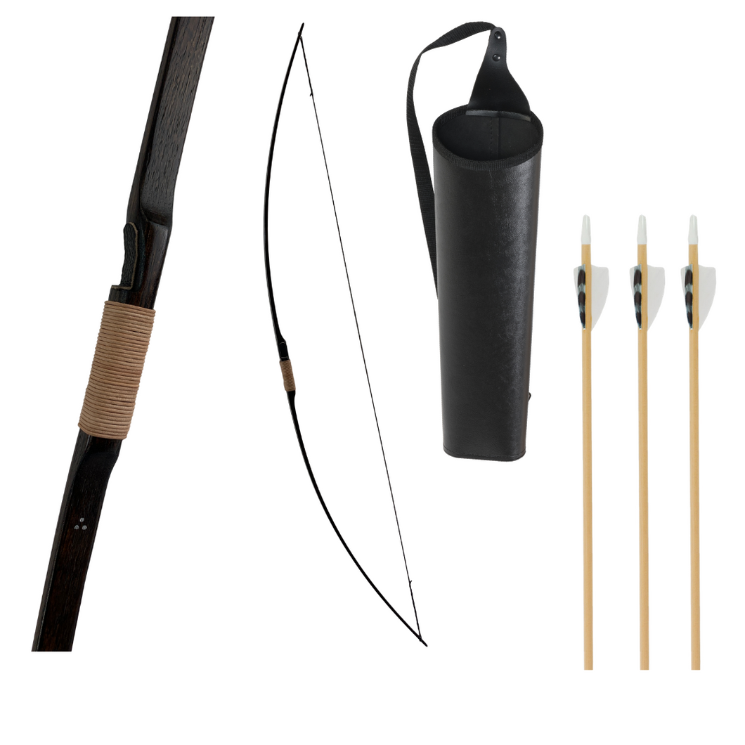 Medieval Youth Longbow plus Quiver and Arrows