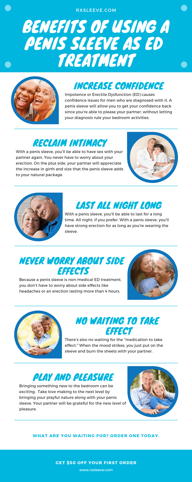 6 Benefits of Using a Penis Sleeve for ED Treatment - An Infographic