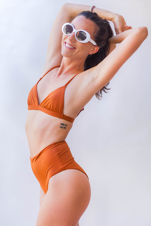 Dirty Orange High Waist Bottom