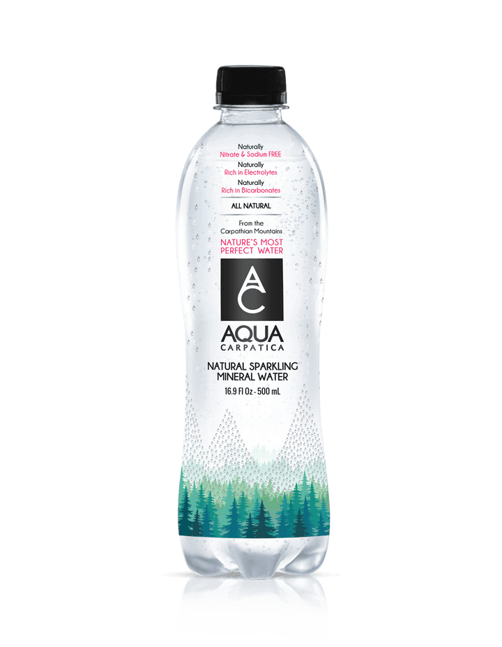 Aqua Carpatica Naturally Sparkling Mineral Water 500ml (24 Count)