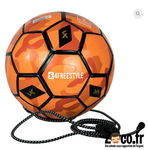 Ballon Dentrainement Camouflage Orange Avec Elastique Ballon