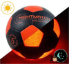BALLON FOOTBALL LUMINEUX NIGHTMATCH NOIR ET ORANGE