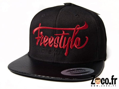 Casquette Snapback Freestyle Energy Visiere Carbone Casquette
