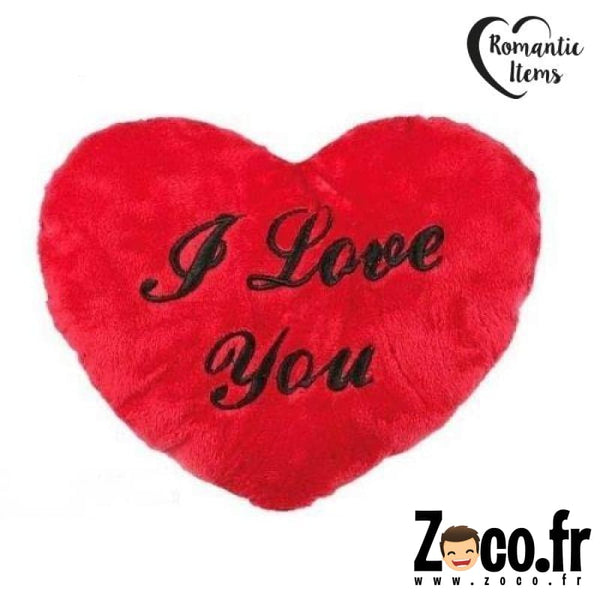 Coeur Peluche I Love You 35 Cm Coussin
