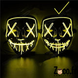 Masque Led Halloween Jaune 2