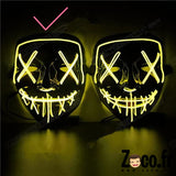 Masque Led Halloween Jaune