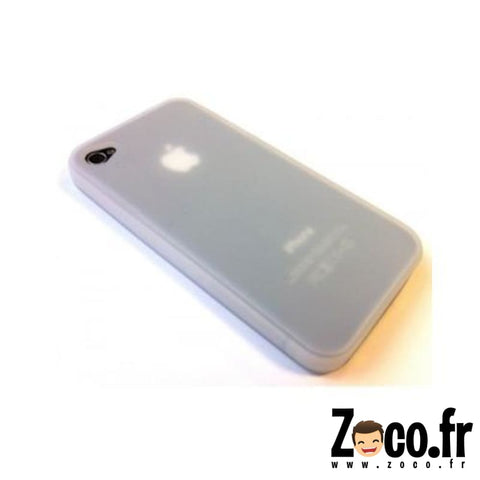 Protection Iphone 4 Back Case Transparent Blanc Protection