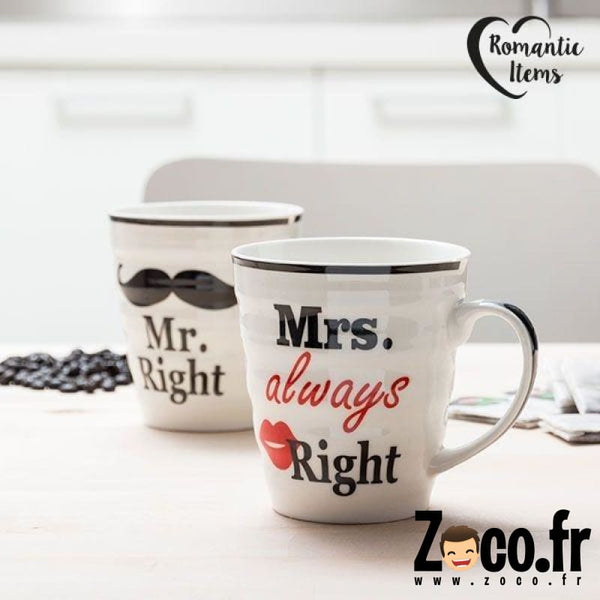 Tasses Mr. Right & Mrs. Always Mugs