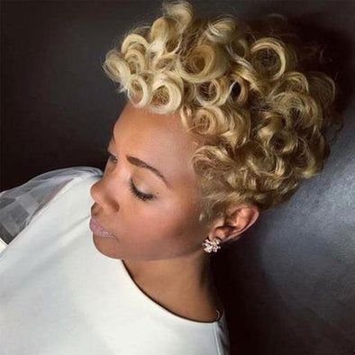 Gorgeous Short Curly Synthetic Hair Wig for Black Women