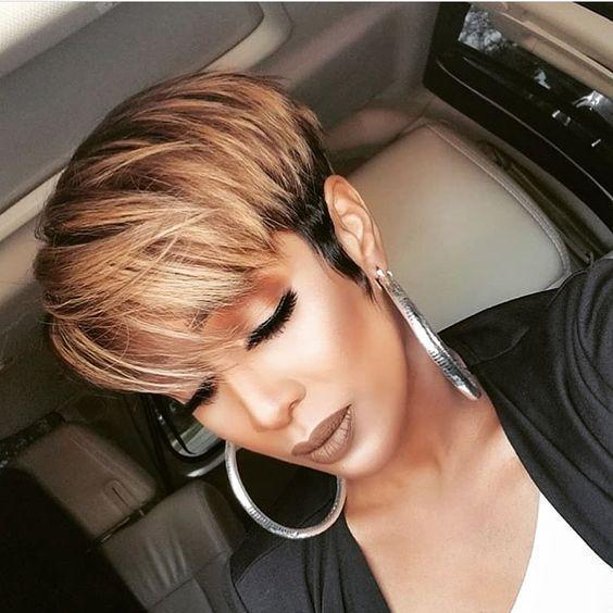 Short Pixie Cut Straight Layered for Black Women