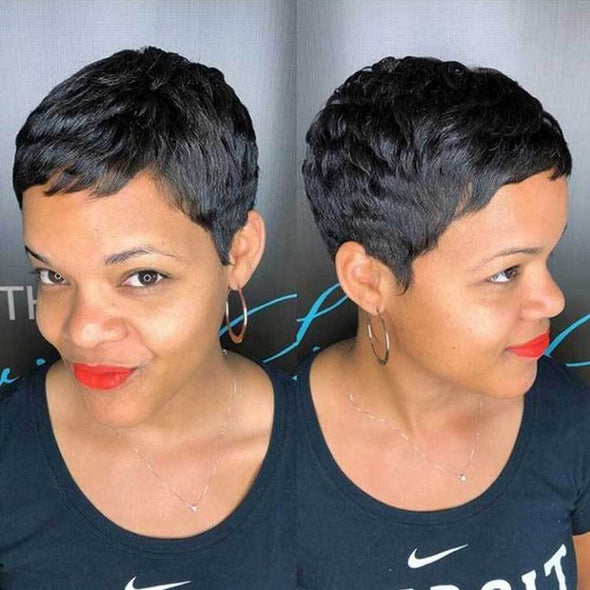 Very Short Affordable Straight Hair Wig for African American