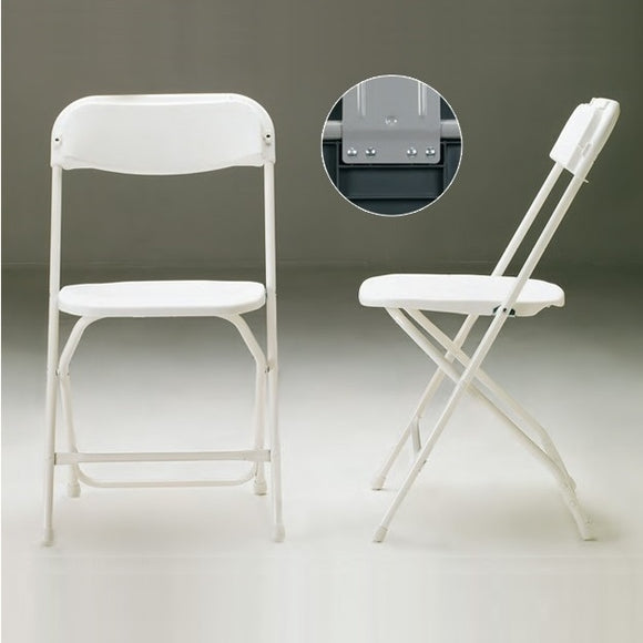 Chair folding, plastic seat and back blue, grey frame 10/carton