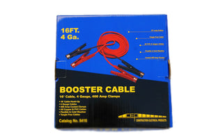 booster cable,16 ft. 4 gauge