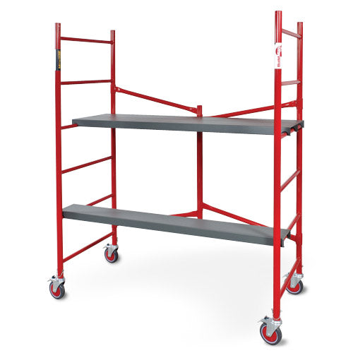 Scaffold rolling tower Buildman folding frame 6 foot 1,000 LB capacity, 5 in casters