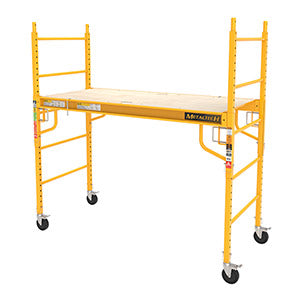Scaffold rolling tower Jobsite square tube frame 6 foot with casters