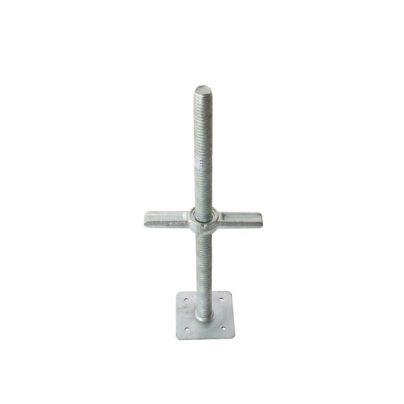 Screw jacks galvanized for exterior scaffold