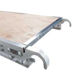 platforms aluminum 5/8 in plywood deck from 7 to 10 ft x 19