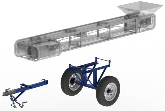Axle assemblies for portable conveyors