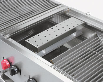 smoker box, stainless steel