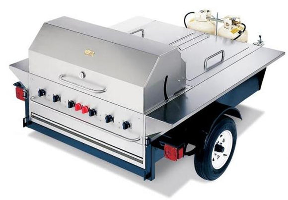 Barbeque Series Tailgate towable 48 inch c/w roll dome and side shelves