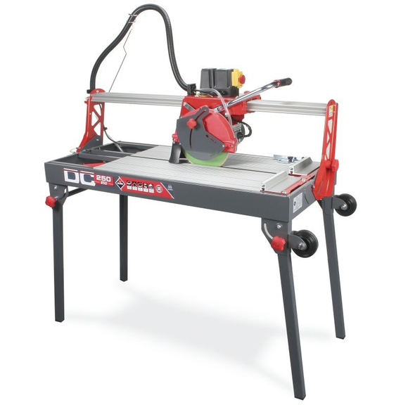 Tile saw 10 inch blade 47 inch cut 33 inch diagonally does mitre & plunge cuts c/w 10 in blade by Rubi 55948
