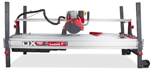 Tile saw 10 inch blade 59 inch cut 42 inch diagonally does plunge cuts does not include blade by Rubi 52913
