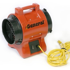 Blower 8 inch 115 volt .33 HP axial fan 501 CFM free air