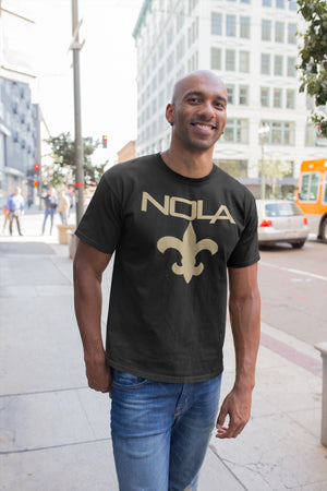 Nola Republic Black and Gold T-shirt New Orleans T-Shirt